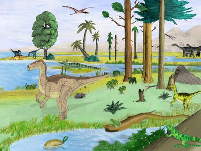 dibujo de un ecosistema grande