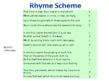 Rhyme scheme example gallery example of resume for student.