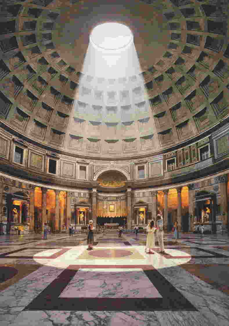 the pantheon the largest un reinforced concrete dome in the world from the roman empire era