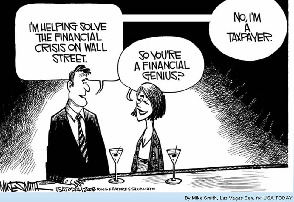 Image result for cartoons about 2008 financial crisis