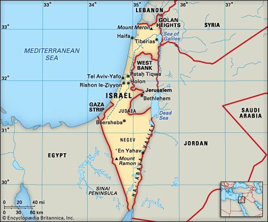 ISRAELPALESTINE CONFLICT - Where is israel