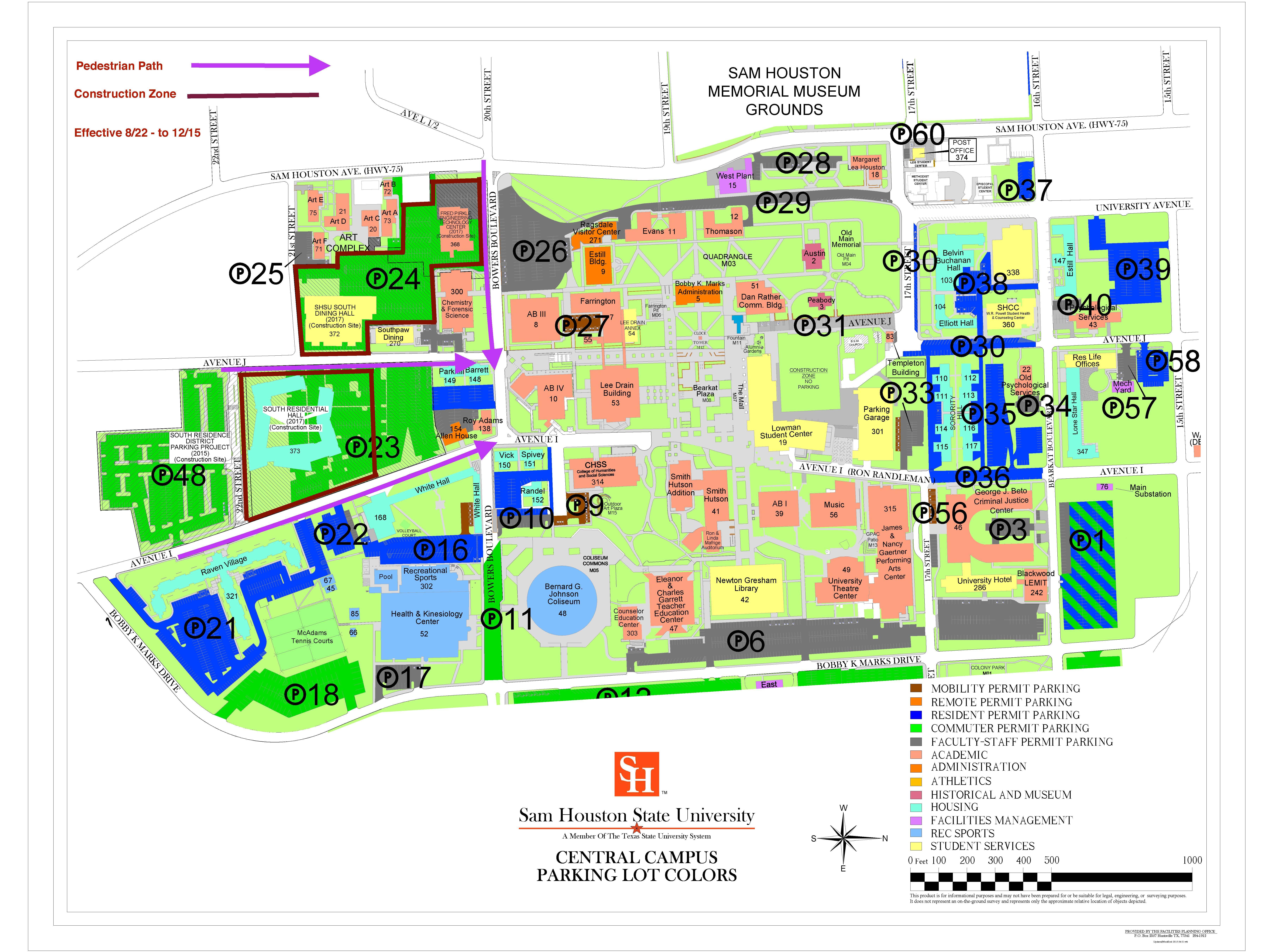 Shsu Parking Map – AVFH