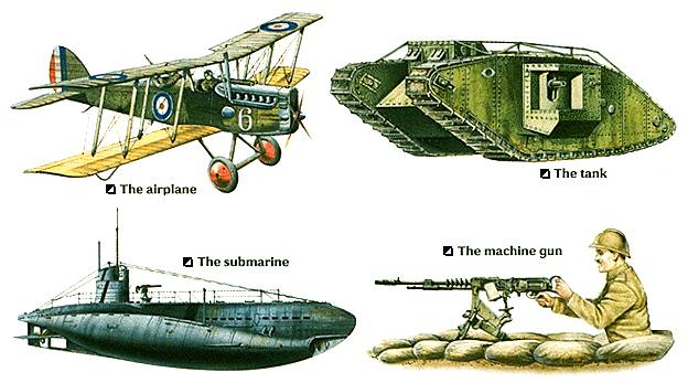 new weapons used in ww1 - Khafre