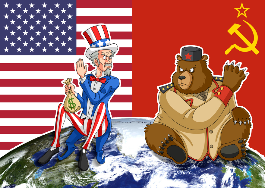 Image result for caricature world war us russia