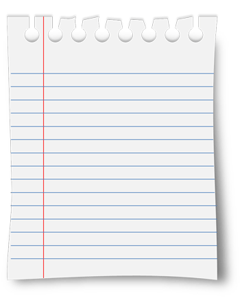 Piece Of Notebook Paper Png Image Gallery - HCPR