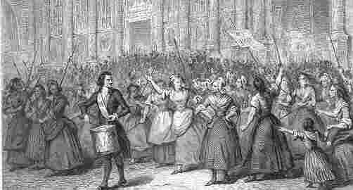 the french revolution on emaze women of protesting a mob attacking an armoury shop