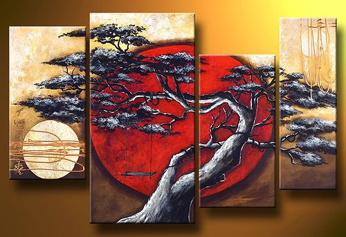 have been a better type of paint to create the canvas art the image oon the right shows a canvas art painting using oil paint i think that oil paint is a