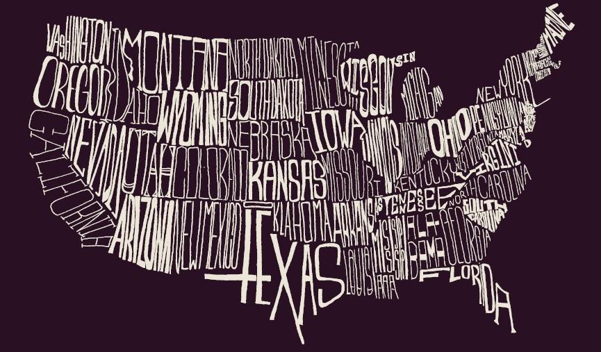 Amendment - Cool map of us