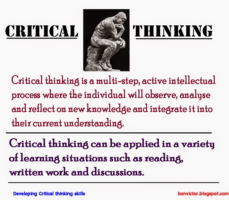what is thinking essay We're working hard this summer on a redesign of the purdue owl  critical thinking  it is neither a book report nor an opinion piece nor an expository essay.