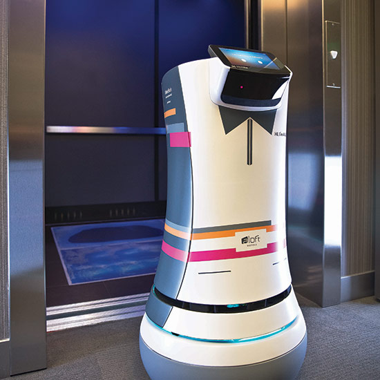 Future Hotel Room With Holograms