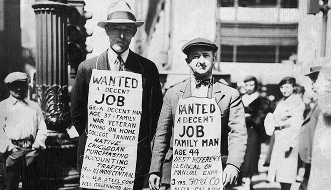 Image of jobless people