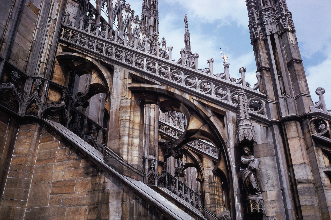 The flying buttress is typically forming an