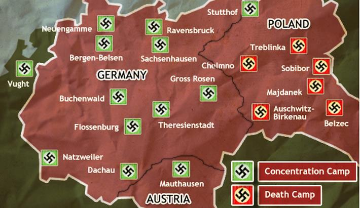Concentration Camps Germany Map France Map - Germany map of concentration camps