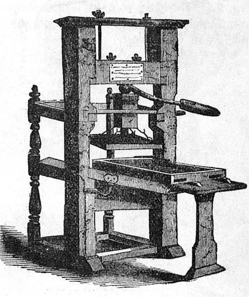 Invented Gutenberg In 1439 Enabled Printing Europe PRINTING PRESS