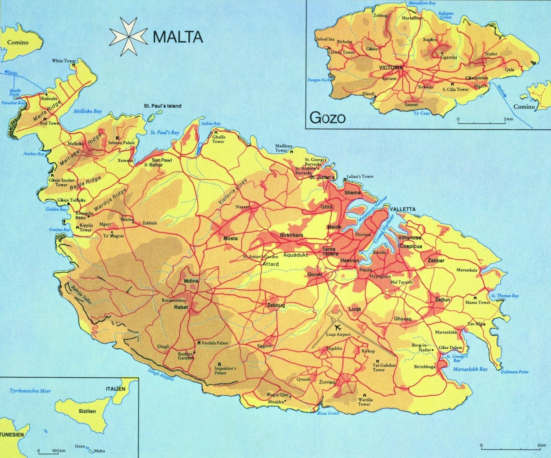 Malta Cartina Stradale.Malta Presentation By Giulia Paba On Emaze