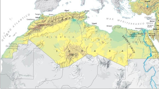 Cartina Nord.Carta Politica Africa Del Nord