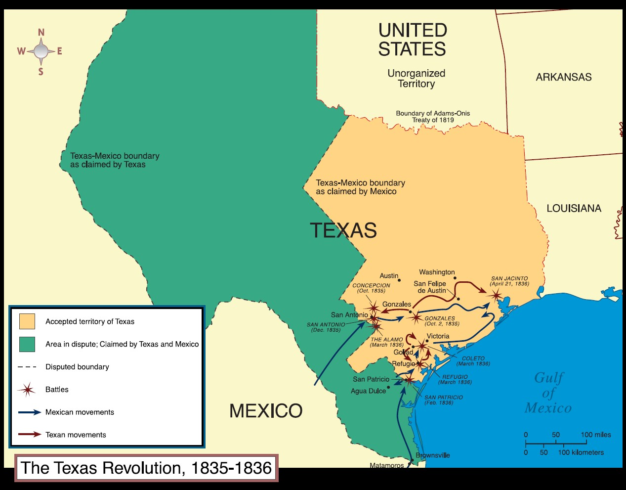 Events of The Texas Revolution on emaze