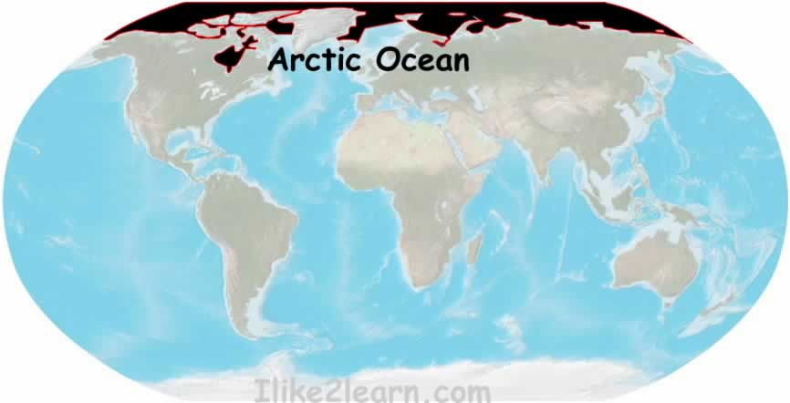 Where Is Arctic Ocean Located On The World Map  Timekeeperwatches
