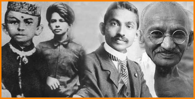Image result for mahatma gandhi with his wife and children