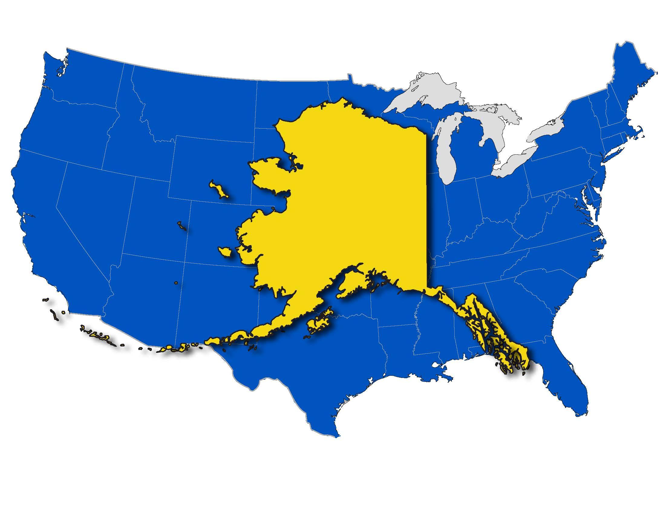 Alaska On Emaze - State of alaska map