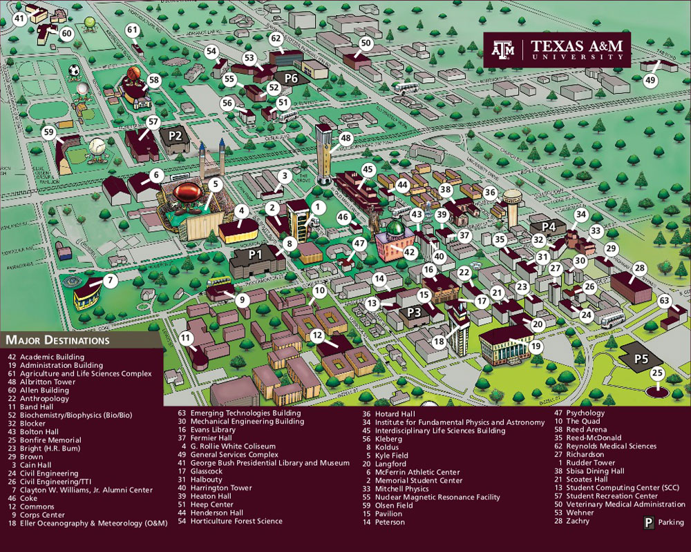 Texas A And M Campus Map