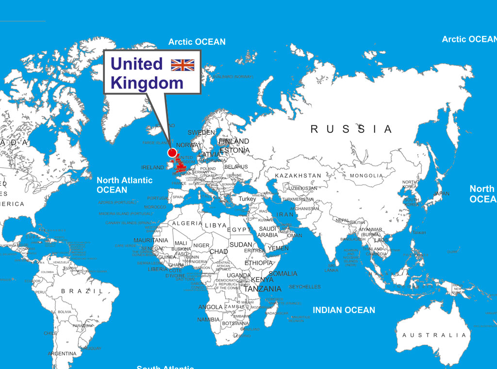 Britain Location In World Map Timekeeperwatches - Britain on a map