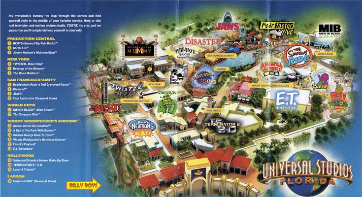 Universal Studios Orlando Map 2015 universal studios orlando