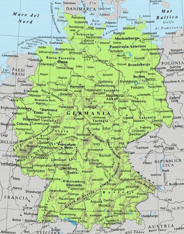 Germania Cartina Fiumi.Germania By Finalale On Emaze