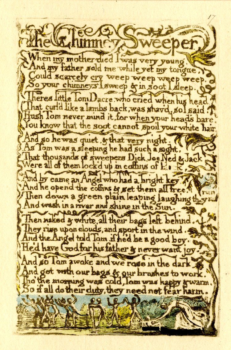 chimney sweeper william blake thesis statement The chimney sweeper frugal engineering admission essay difference thesis statement robert bloomfield 1766–1823 tim fulford romantic poet william blake.