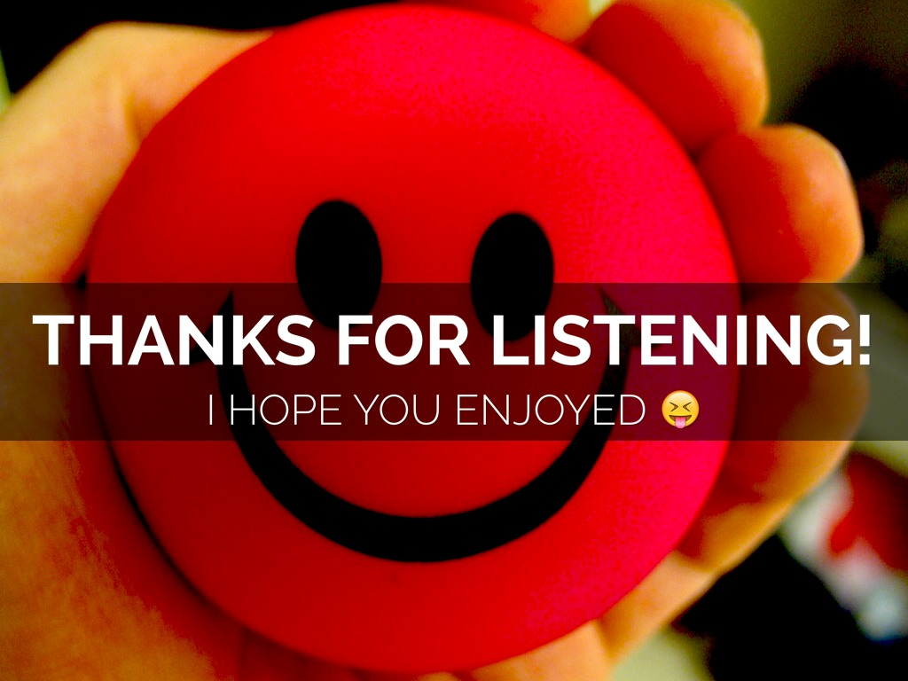how to thank audience for listening