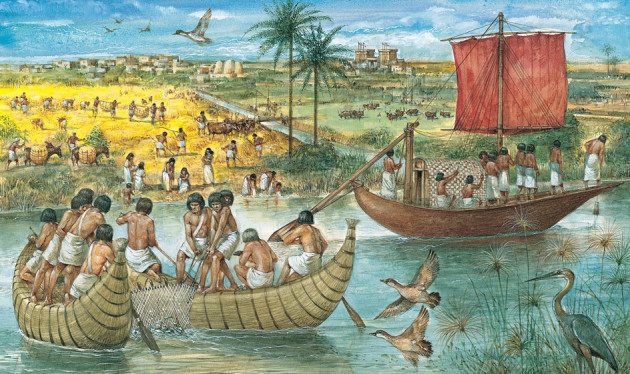 how did ancient egypt use the river nile for food