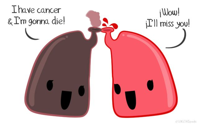 Image result for smokers lung cartoon