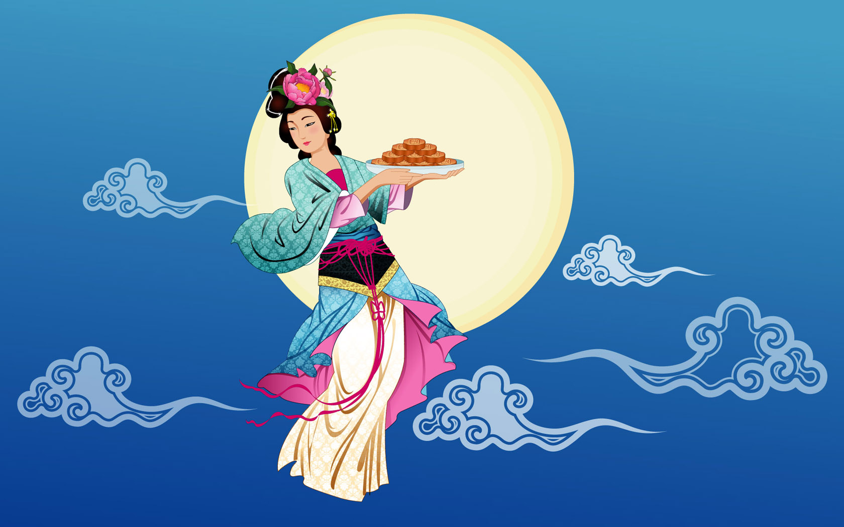 chinese moon festival - HD1680×1050