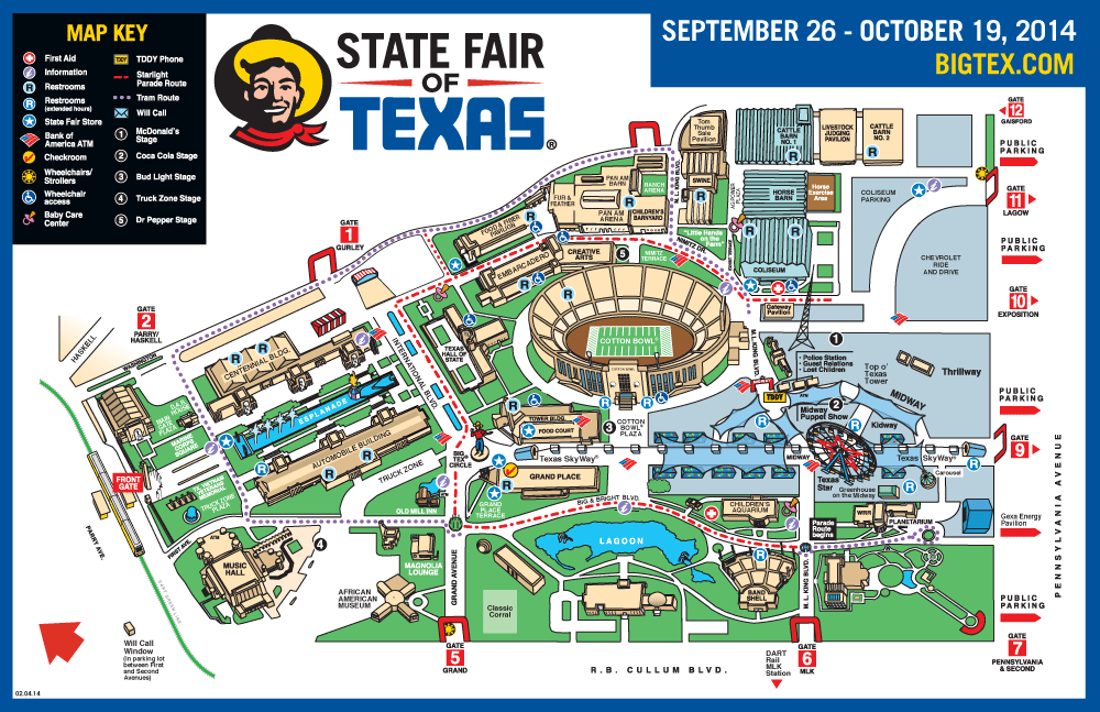 Texas State Fair Parking Map Business Ideas 2013