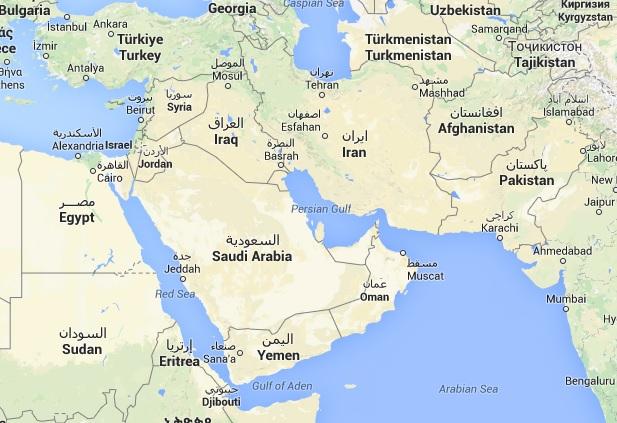 Cartina Yemen.Siria Yemen E Arabia Saudita