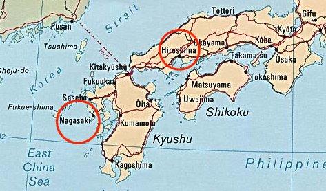 Hiroshima And Nagasaki Map My Blog - Japan map hiroshima