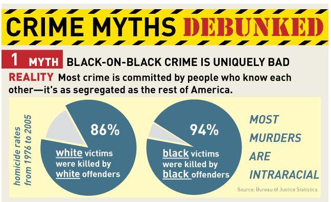Image result for black on black crime vs white on white crime