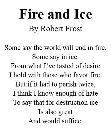 Analysis essay on fire and ice poem / Custom paper Writing Service