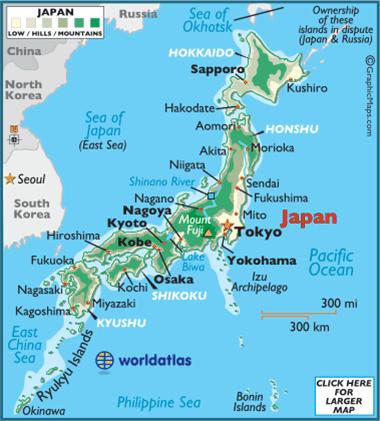 JAPANESE Map