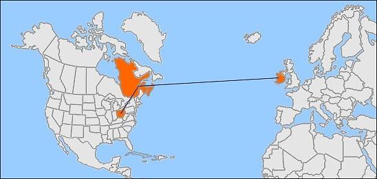 Irish Potato FamIne - Ireland on us map