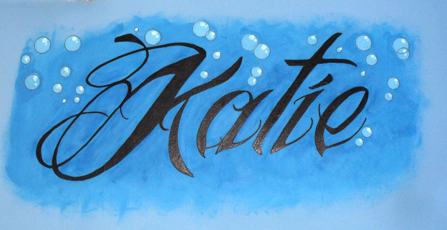 Top Katie Graffiti Lettering Images for Pinterest Tattoos