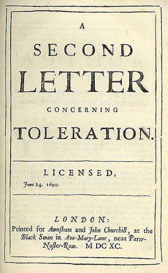 letter concerning toleration essay The ensuing letter concerning toleration, first printed in latin this very year, in holland, has already been translated both into dutch and french — so general and speedy an approbation may therefore bespeak its favourable reception in england.