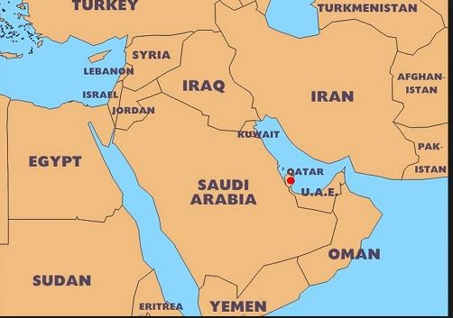 qatar is in middle east