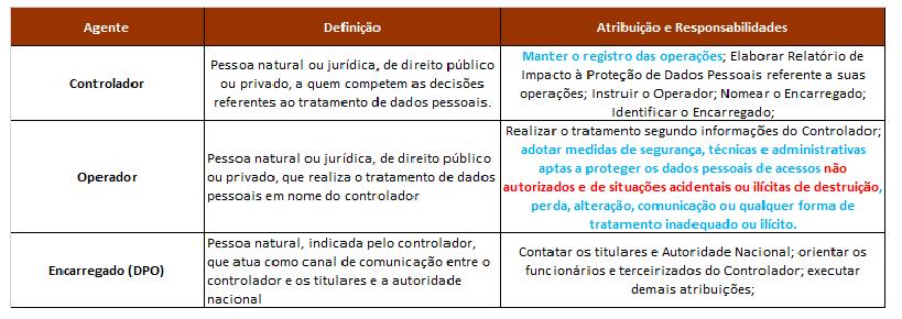 Dos Agentes de Tratamento de Dados Pessoais 1e64177d02