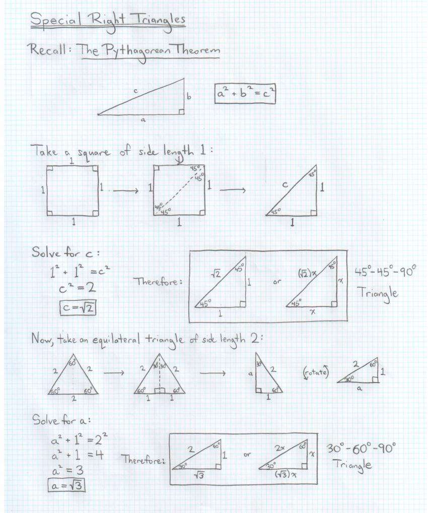 Worksheets Special Right Triangles 30 60 90 Worksheet Answers all about triangles amitesh arya on emaze