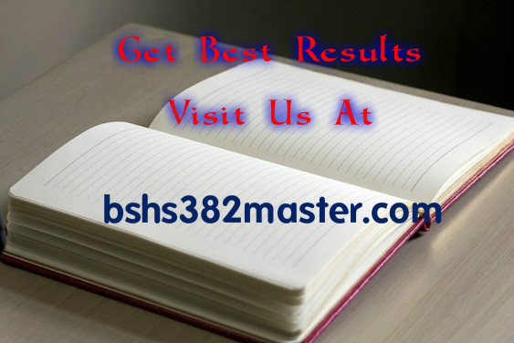 BSHS 382 UOP Course Tutorial/ uophelp