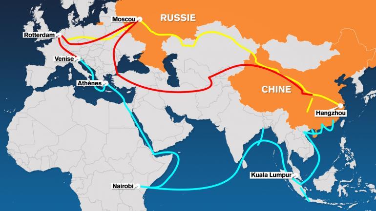 carte route de la soie Breaking News