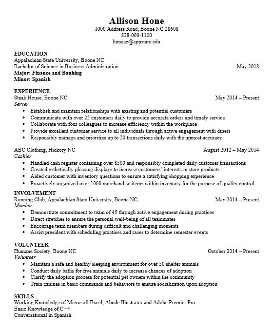 resume part 1 format on emaze
