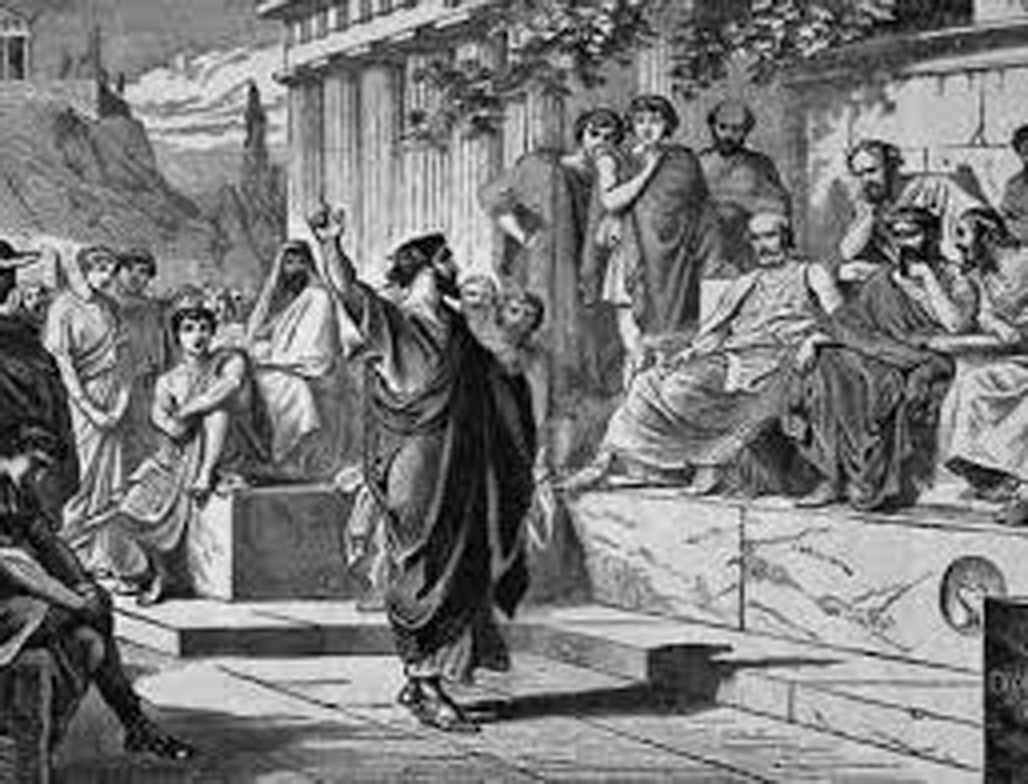 Orador en la democacia ateniense , democracia griega, democracia en la antigua grecia, democracia en la antigua atenas