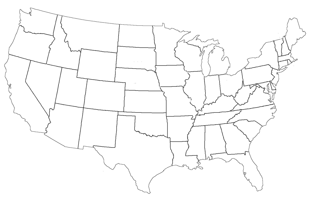 Free United States Of America Map Maps Usa Psd: Map Of United States Template At Codeve.org